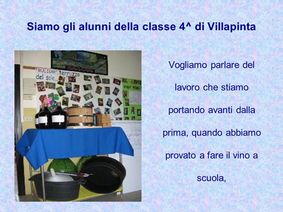 Siamo gli alunni della classe 4^ di Villapinta