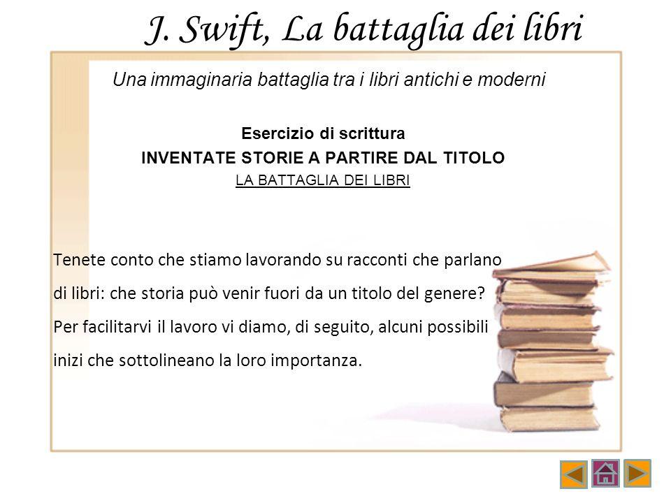 J. Swift, La battaglia dei libri