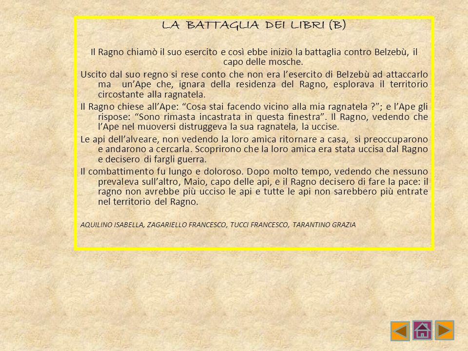 LA BATTAGLIA DEI LIBRI (B)