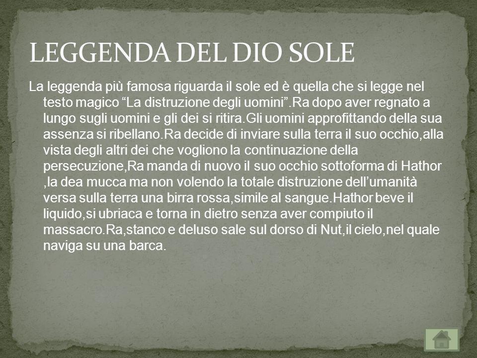 LEGGENDA DEL DIO SOLE