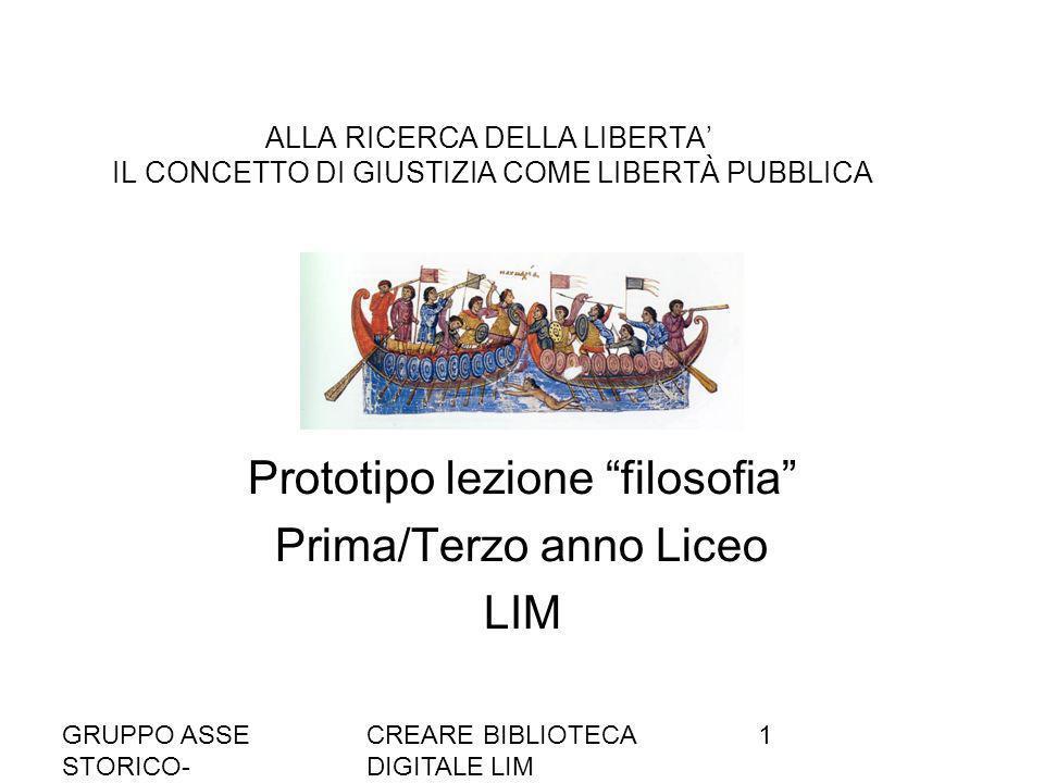 Prototipo lezione filosofia Prima/Terzo anno Liceo LIM