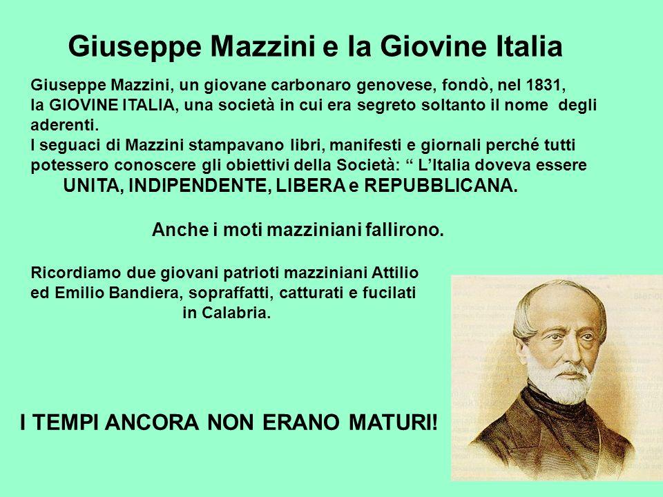 Giuseppe Mazzini e la Giovine Italia
