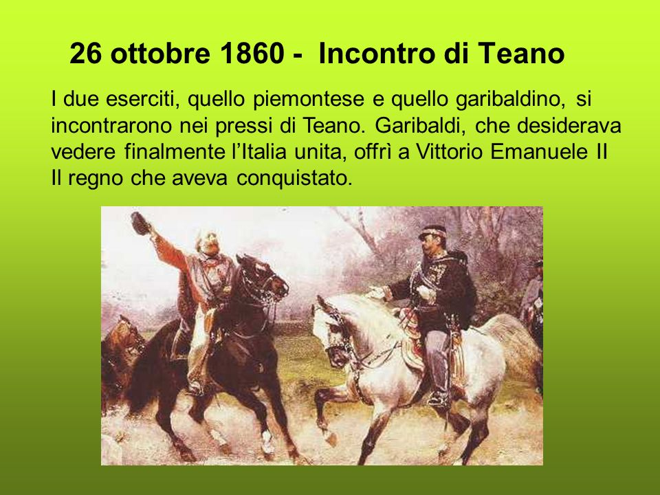 26 ottobre 1860 - Incontro di Teano