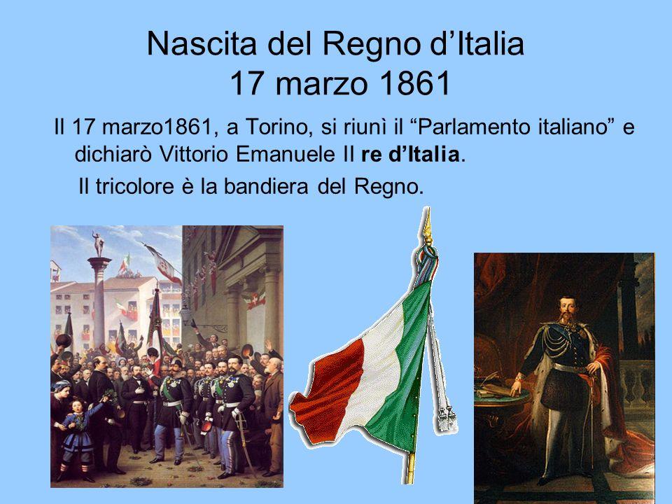 Nascita del Regno d'Italia 17 marzo 1861