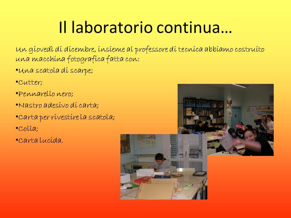 Il laboratorio continua…