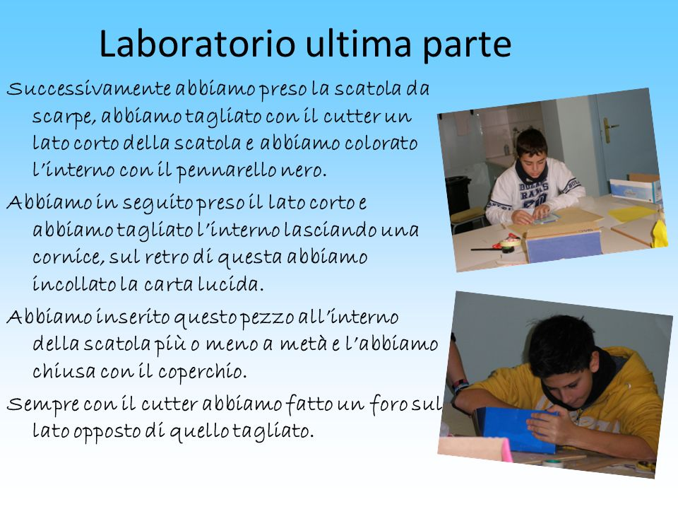 Laboratorio ultima parte
