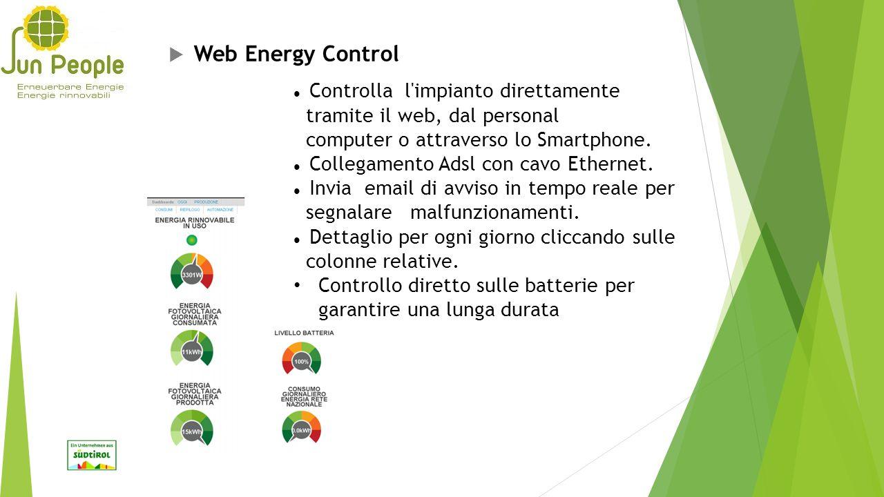 Web Energy Control Controlla l impianto direttamente
