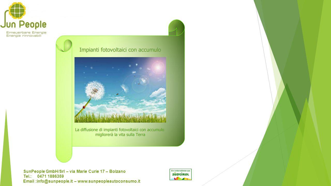 SunPeople GmbH/Srl – via Marie Curie 17 – Bolzano