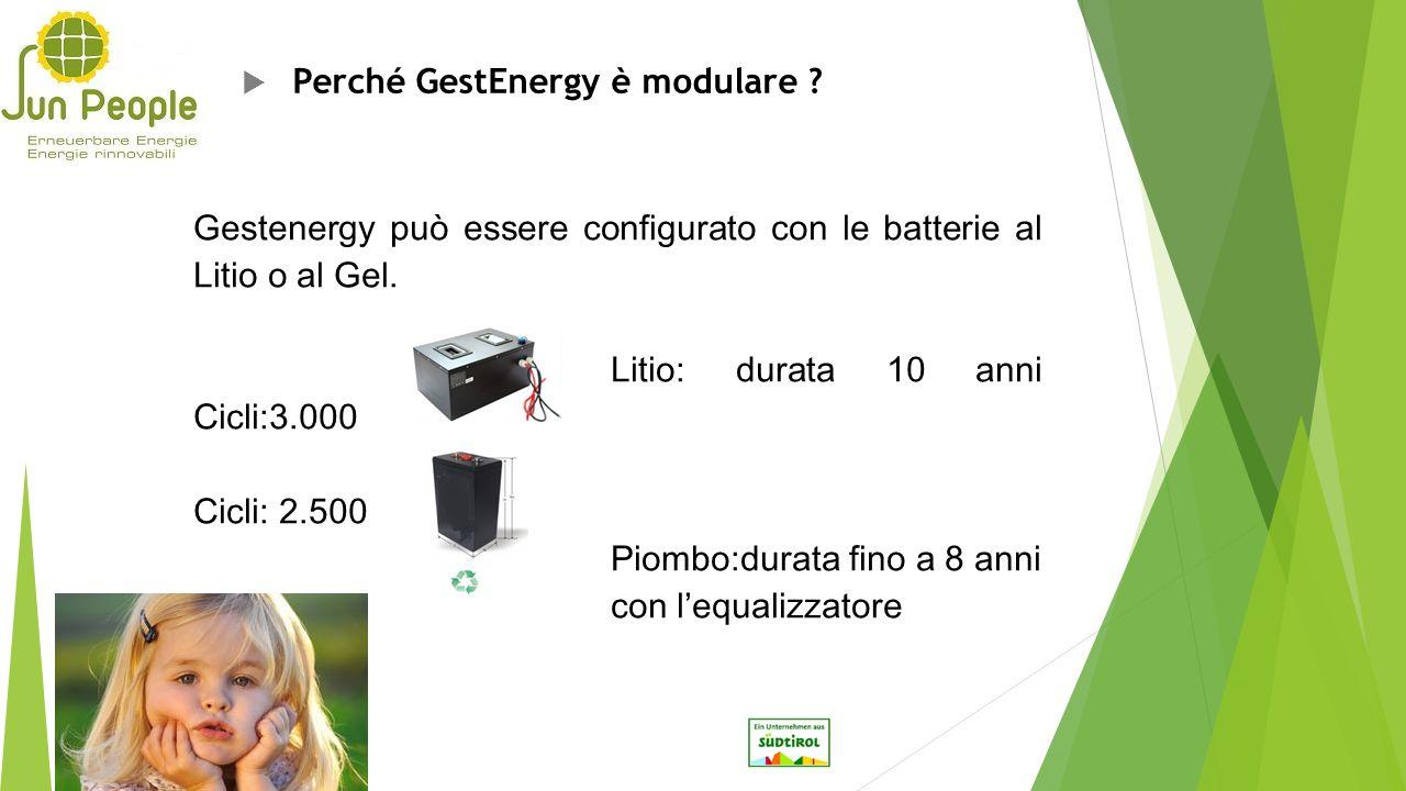 Perché GestEnergy è modulare