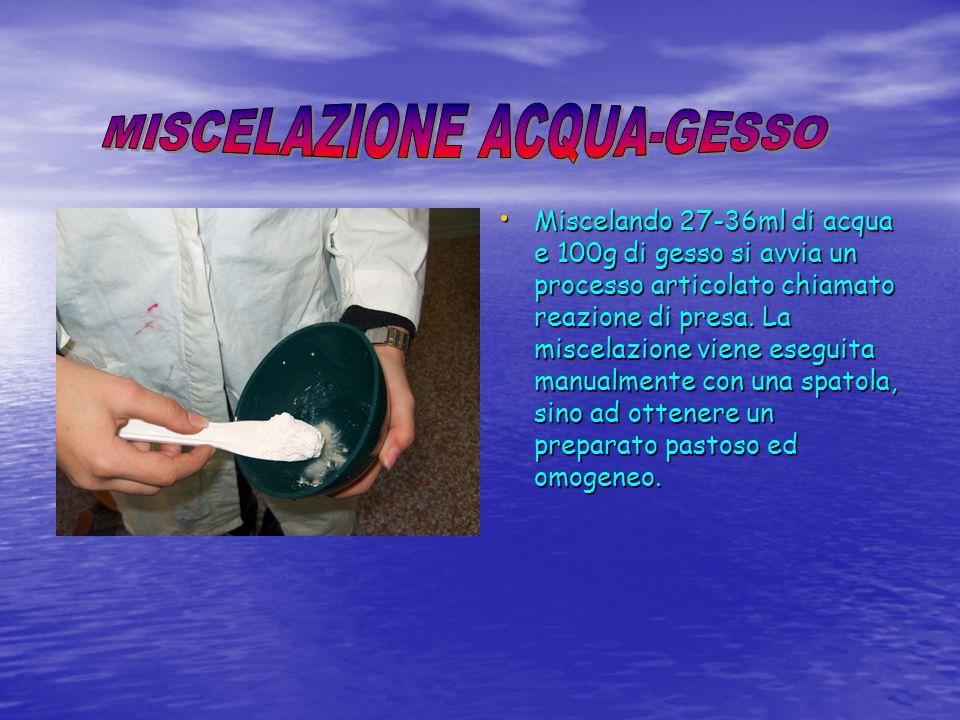 MISCELAZIONE ACQUA-GESSO