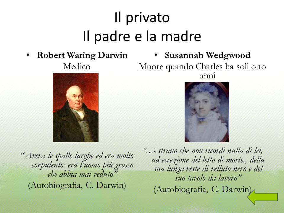 Il privato Il padre e la madre