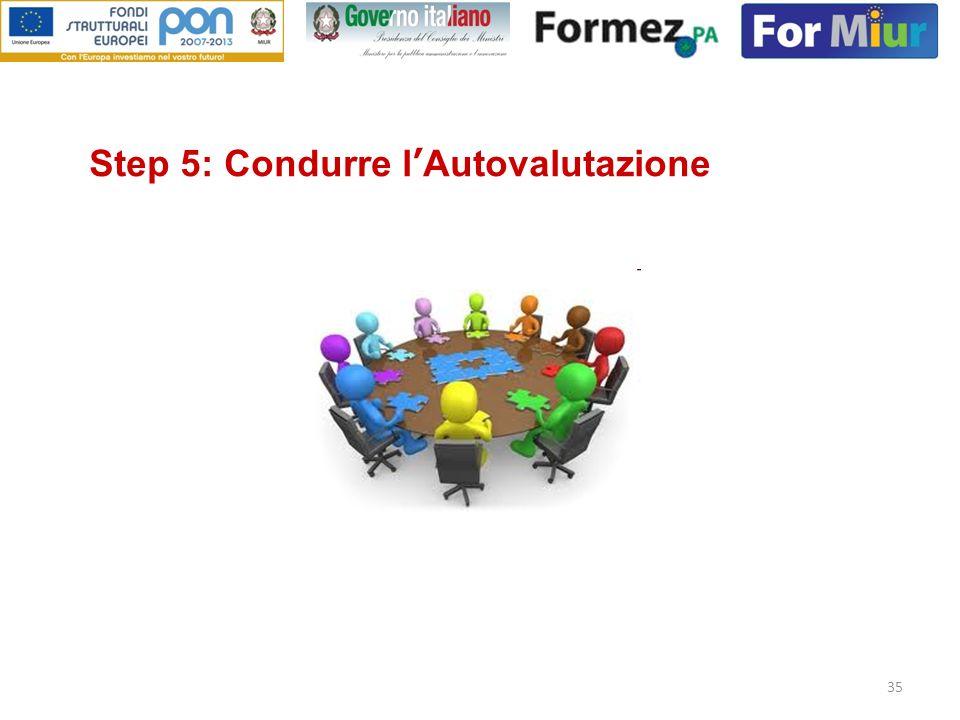 Step 5: Condurre l'Autovalutazione