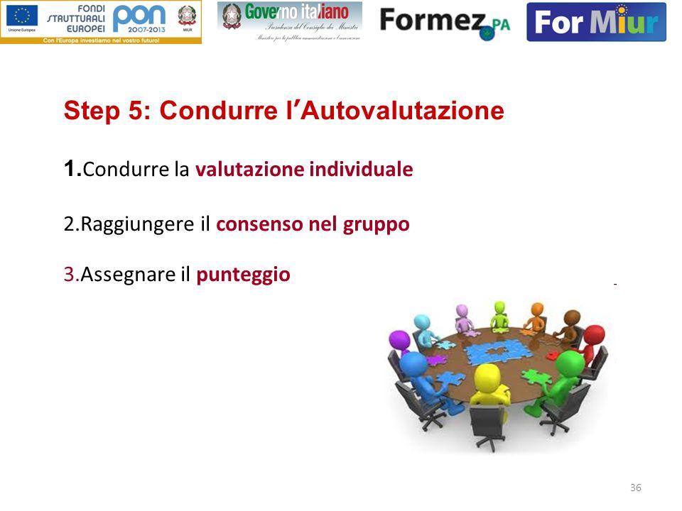 Step 5: Condurre l'Autovalutazione 1