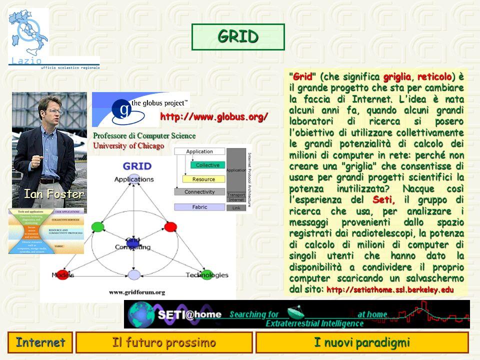 GRID Ian Foster Internet Il futuro prossimo I nuovi paradigmi
