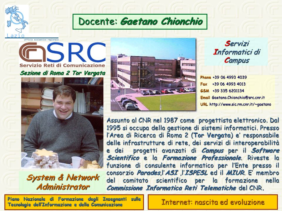 Sezione di Roma 2 Tor Vergata System & Network Administrator