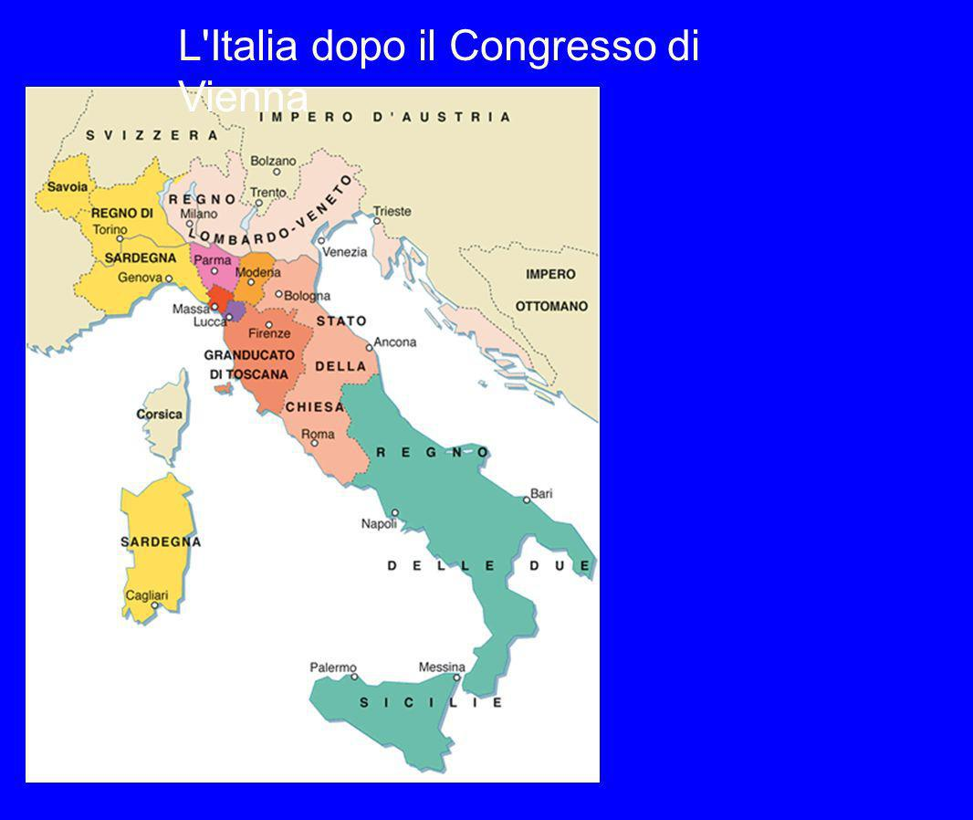 L Italia dopo il Congresso di Vienna