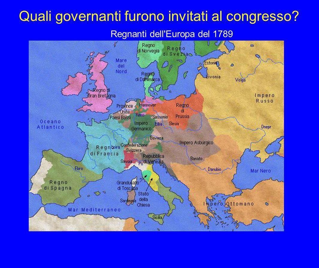 Quali governanti furono invitati al congresso