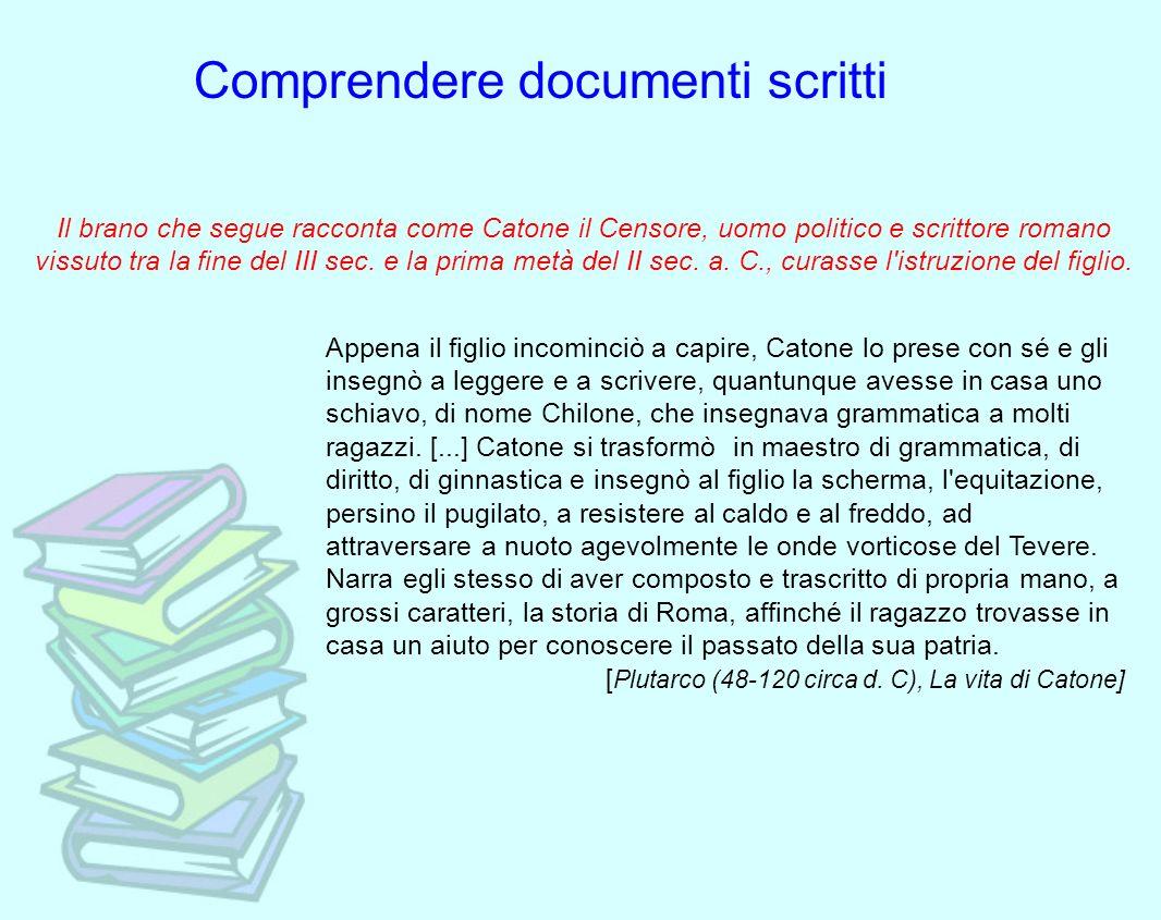 Comprendere documenti scritti