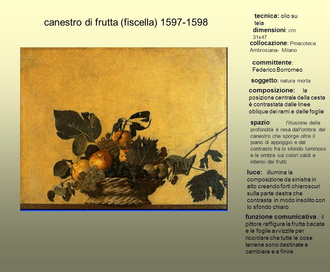 canestro di frutta (fiscella) 1597-1598