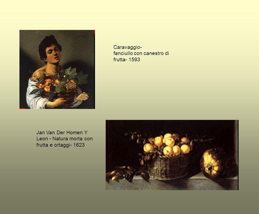 Caravaggio- fanciullo con canestro di frutta- 1593