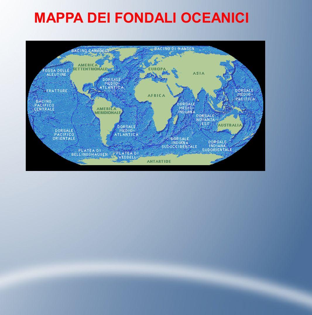 MAPPA DEI FONDALI OCEANICI