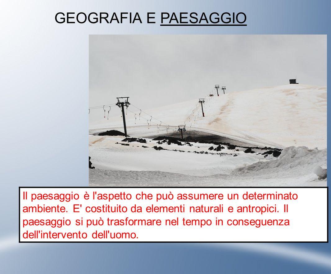 GEOGRAFIA E PAESAGGIO