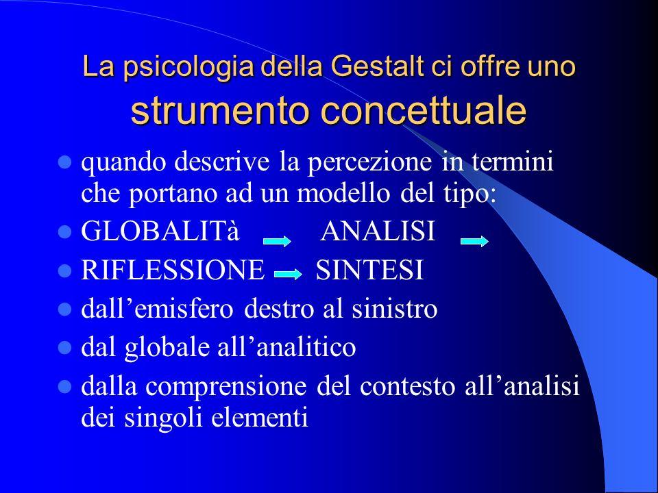 La psicologia della Gestalt ci offre uno strumento concettuale