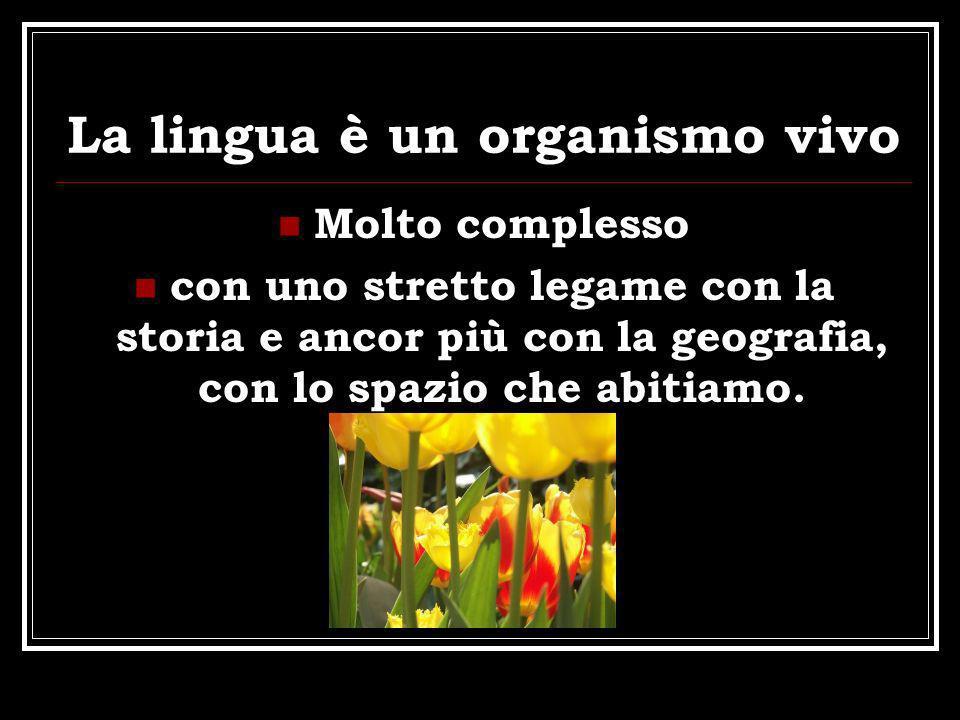 La lingua è un organismo vivo