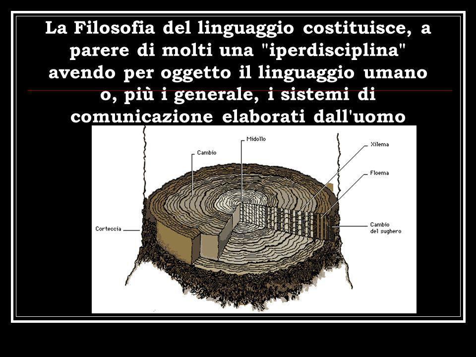 La Filosofia del linguaggio costituisce, a parere di molti una iperdisciplina