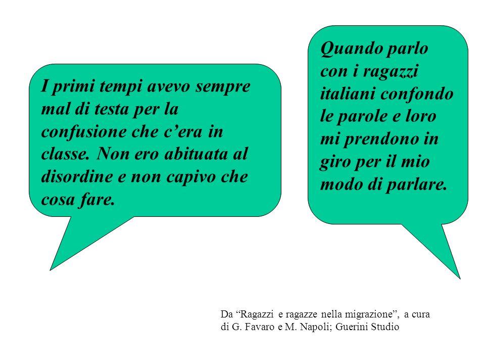 Quando parlo con i ragazzi italiani confondo le parole e loro mi prendono in giro per il mio modo di parlare.