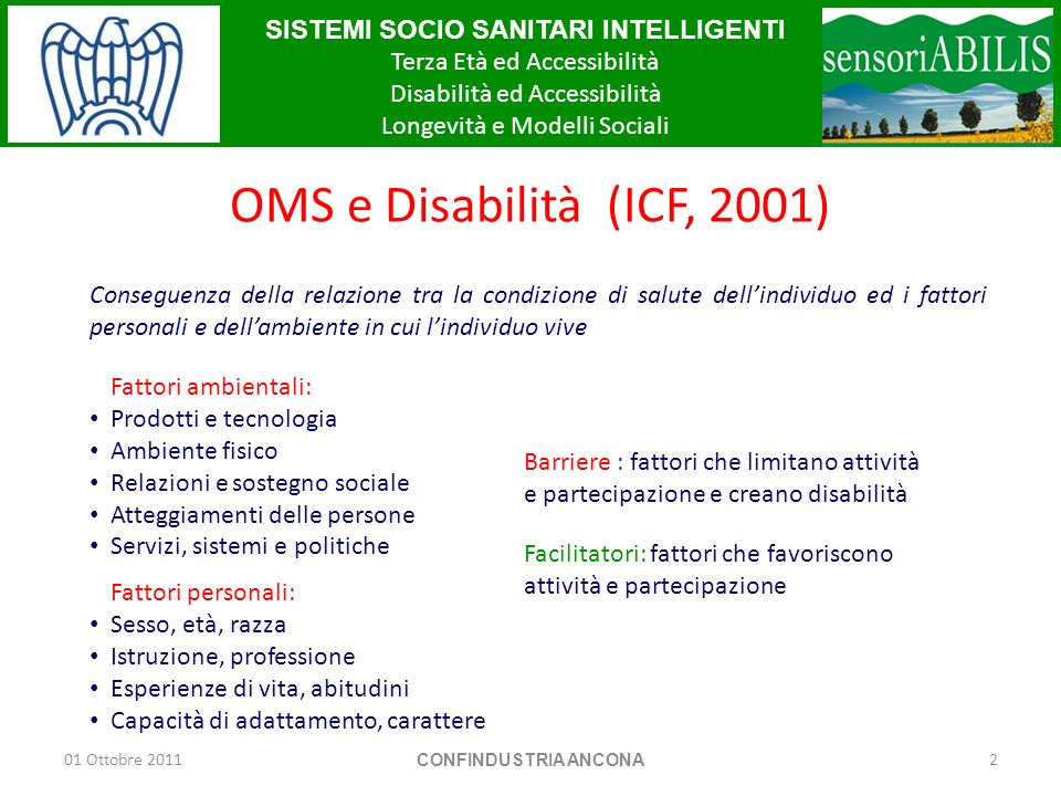 OMS e Disabilità (ICF, 2001)