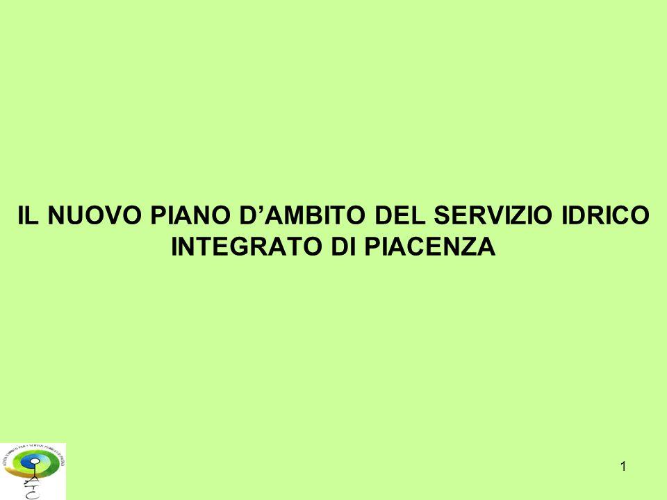 IL NUOVO PIANO D'AMBITO DEL SERVIZIO IDRICO INTEGRATO DI PIACENZA