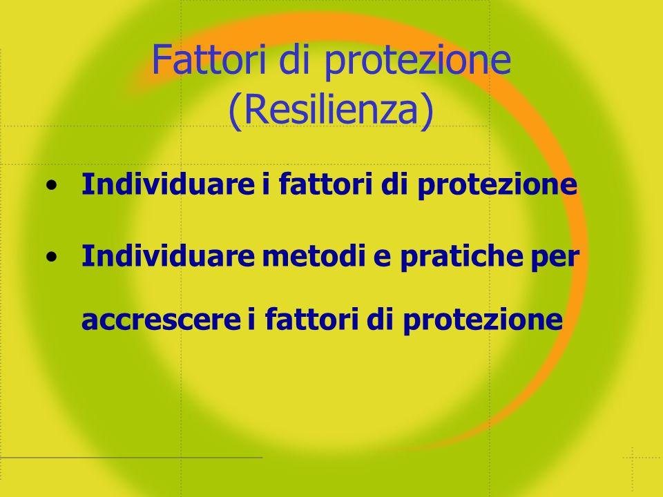 Fattori di protezione (Resilienza)
