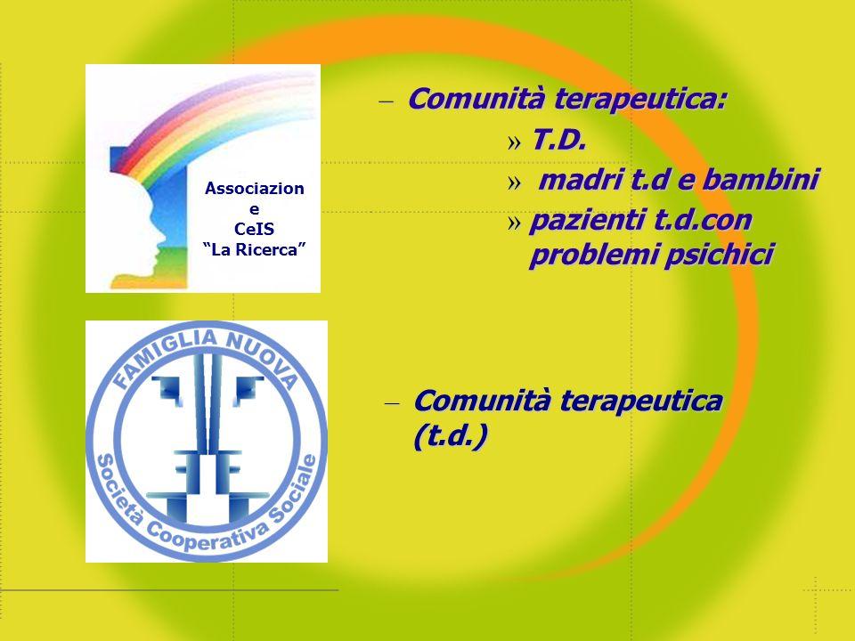 Comunità terapeutica: T.D. madri t.d e bambini