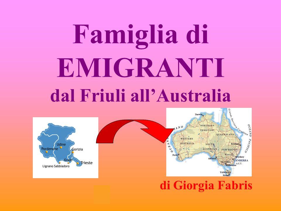 Famiglia di EMIGRANTI dal Friuli all'Australia