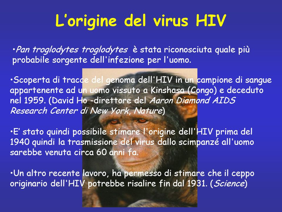 L'origine del virus HIV