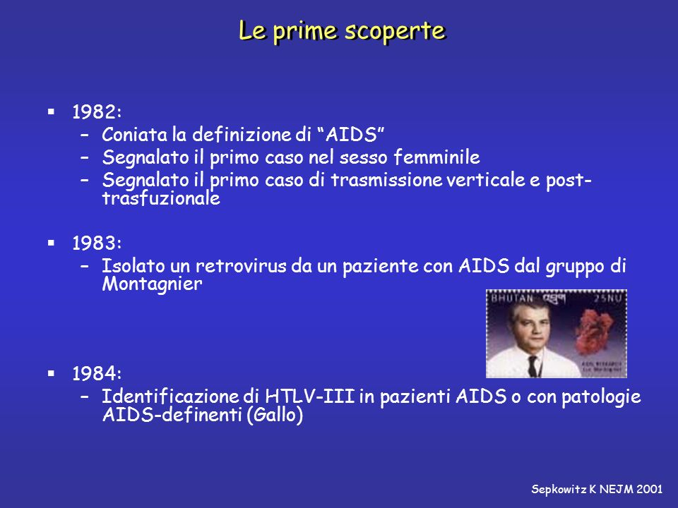 Le prime scoperte 1982: Coniata la definizione di AIDS