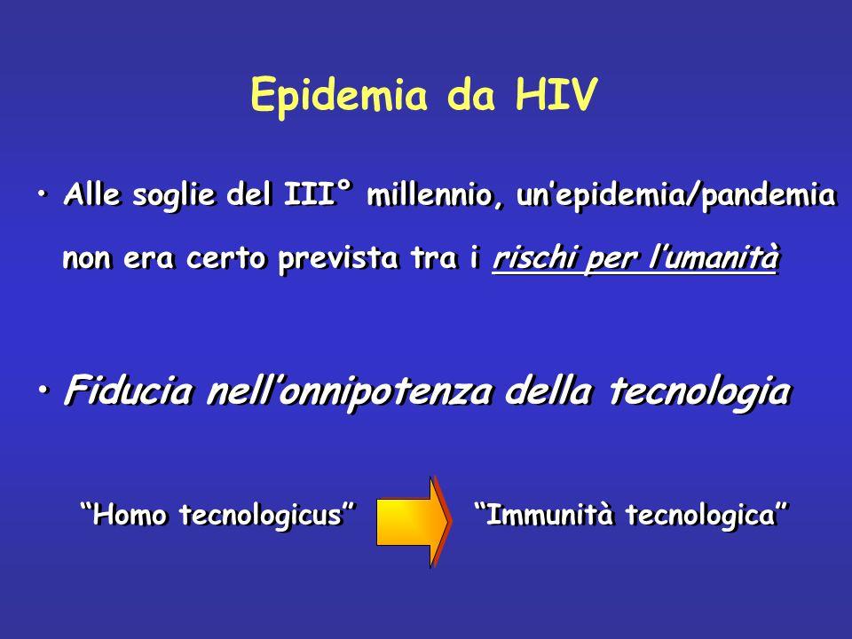 Epidemia da HIV Fiducia nell'onnipotenza della tecnologia