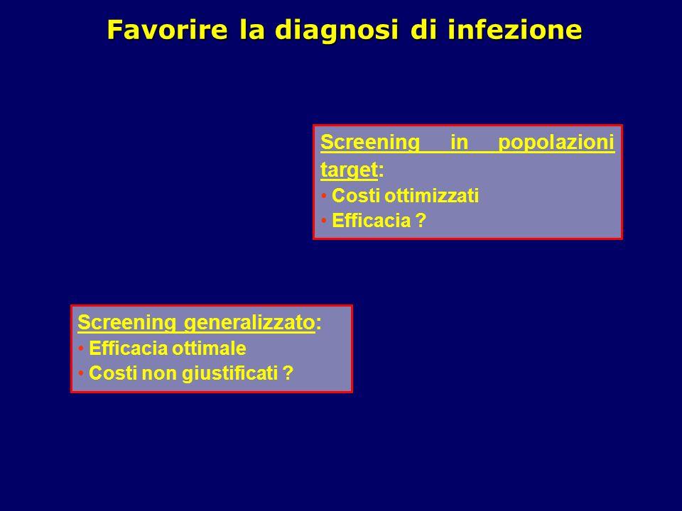 Favorire la diagnosi di infezione