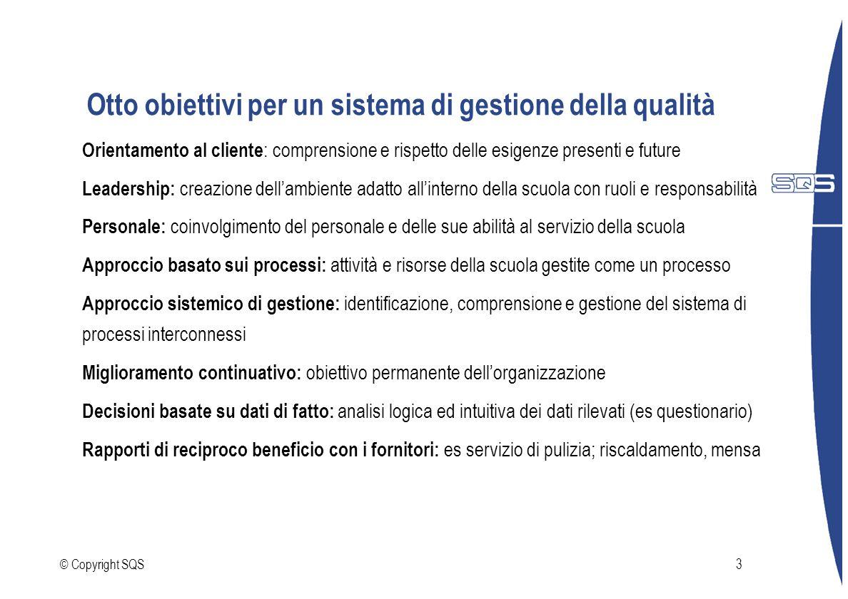 Otto obiettivi per un sistema di gestione della qualità