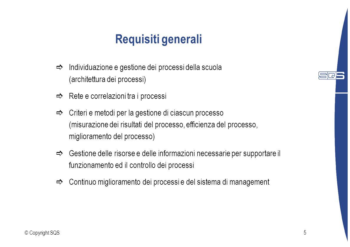 Requisiti generali Individuazione e gestione dei processi della scuola (architettura dei processi)