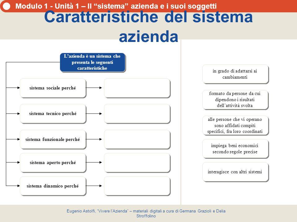 Caratteristiche del sistema azienda