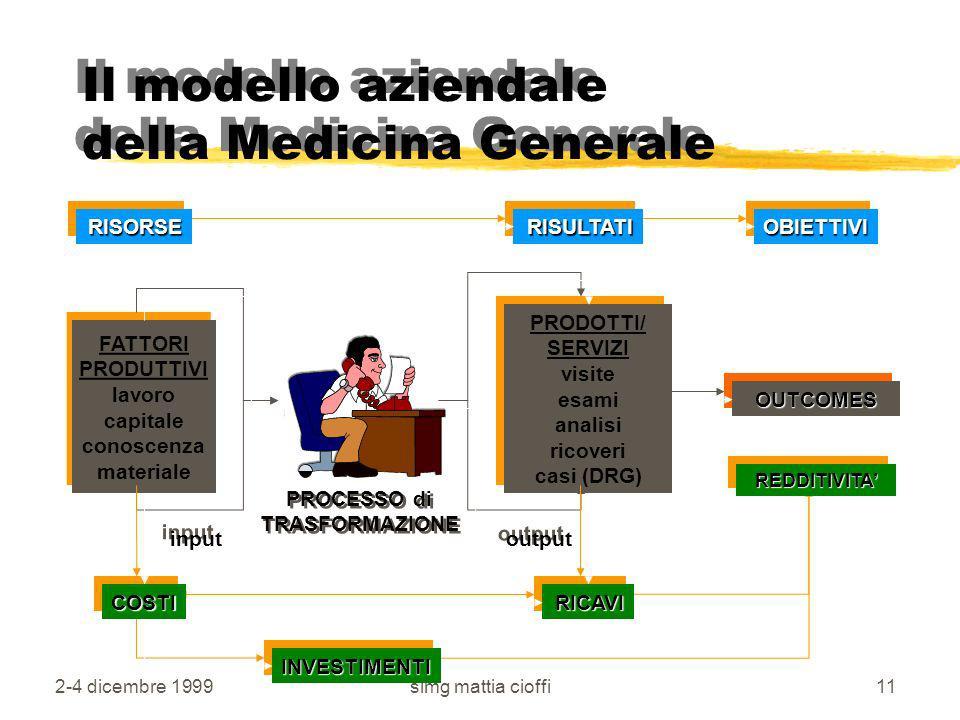 Il modello aziendale della Medicina Generale