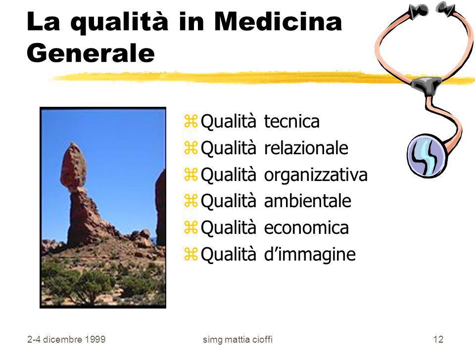 La qualità in Medicina Generale