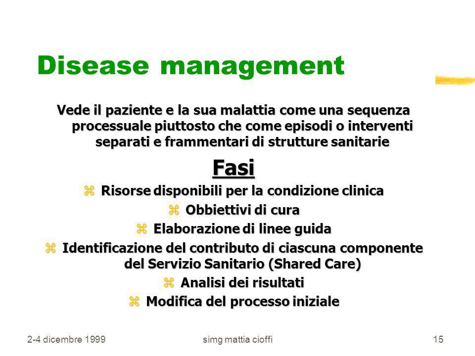 Disease management Fasi