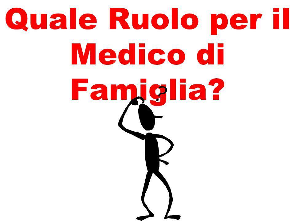 Quale Ruolo per il Medico di Famiglia