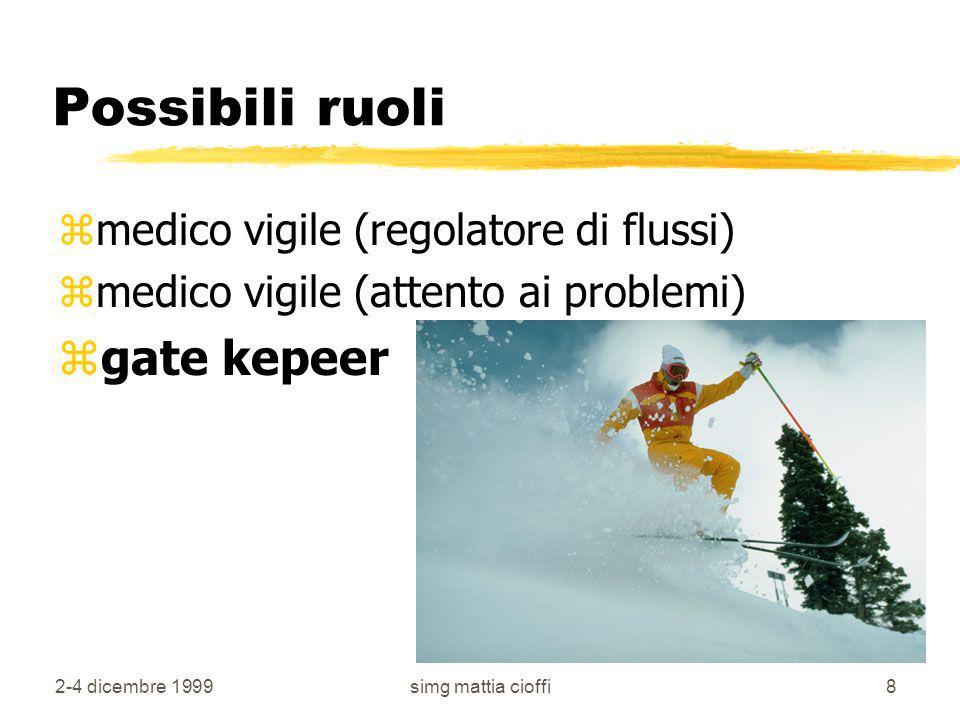 Possibili ruoli gate kepeer medico vigile (regolatore di flussi)