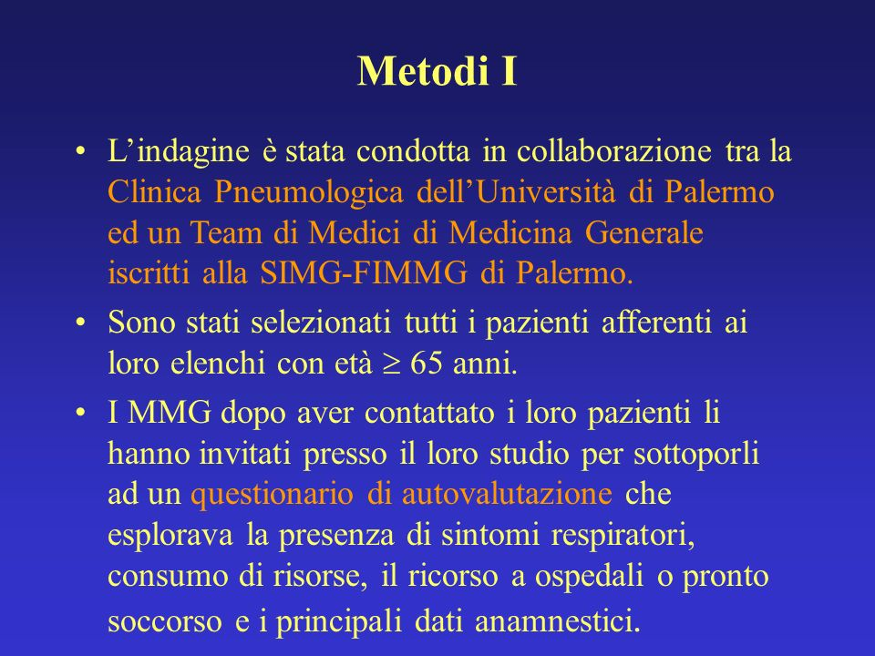 Metodi I