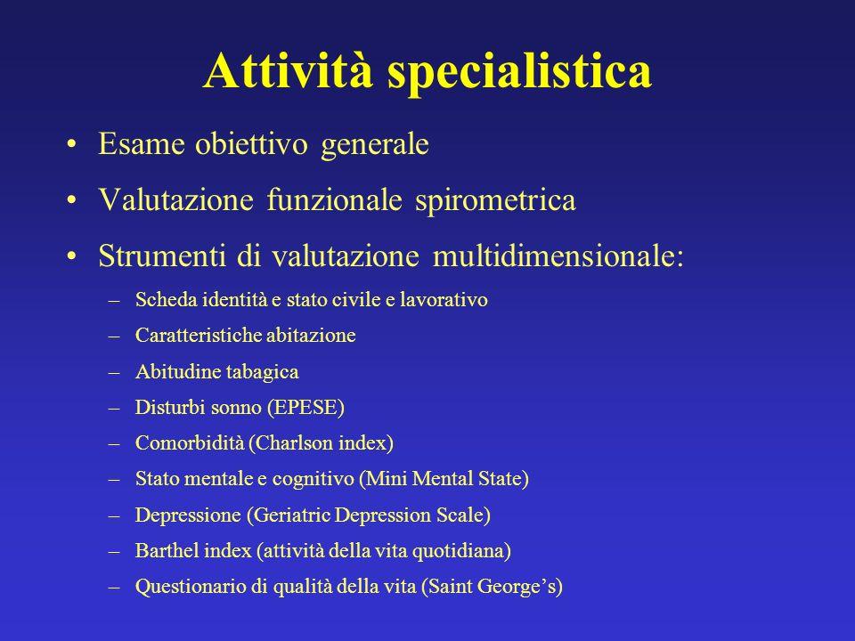 Attività specialistica