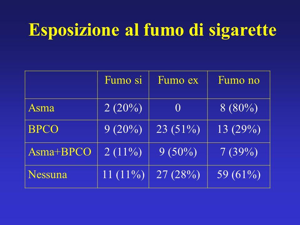Esposizione al fumo di sigarette